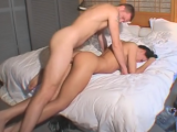 Man fucking his pretty girlfriend hard from behind on bed