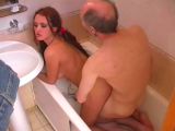 Older man is really happy becouse this young girl wanna be fucked by his cock