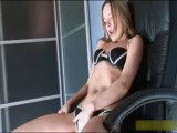 A beautiful tall girl fucked on a chair.