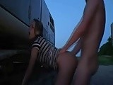 Amateur Ex girlfriend gets fucked outdoor