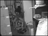 Amateur couple fucking but they forget on security camera :)
