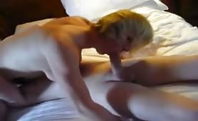 Blonde Gal and Her Lover Indulge in 69