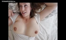 Gorgeous babe with huge natural tits