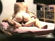 Spy video of a young couple having sex