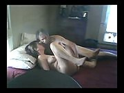 Lovely brunette milf masturbates before doing a hot 69 with her man