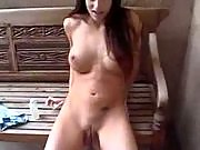 Brunette party slut teases with her sensual body before getting her tight ass bangde