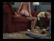 Amazing blonde rides her man's hard cock into kingdom come while assuming sexy poses
