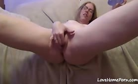 Mature Wife Fucks Herself and Squirts