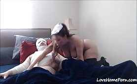 Dedicated Nurse Rides an Ill Patient's Cock