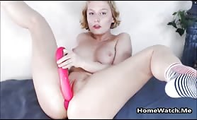 Charming Blonde Likes Big Toys Only