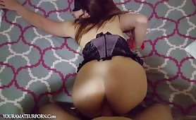 Skank in Corset Hammered from Behind