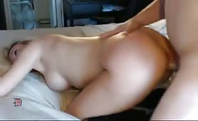 Guy Fucks His Slut Before Toying Her Ass Hole