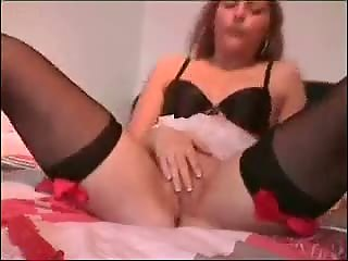Great masturbation dildo in ass and pussy
