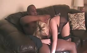 Black Cock Lover Spreads Her Legs