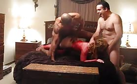 Mature Redhead Shows Appreciation for Black Stud