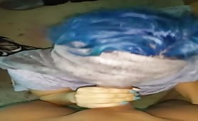 Blue Haired Chick Gives Head POV