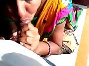 Filming Indian wife sucking cock in POV style