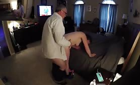Horny Milf Cheating With an Older Guy