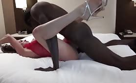 Brunette Takes an Incredibly Large Cock