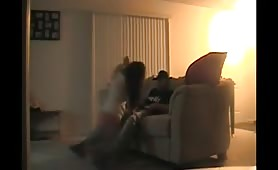 Couple Banging in the Living Room