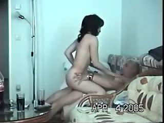 Old man fucking with young hottie