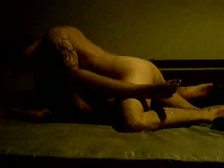 Fucking girlfriend's pussy deep in dark room