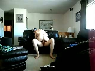 Dude loves to lick her and fuck her on sofa
