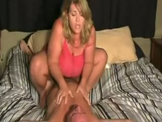Busty Fat Babe Riding Cock