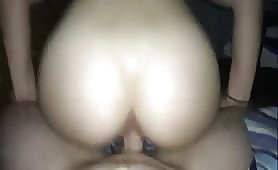 Teen bounces on his cock until he cums inside her