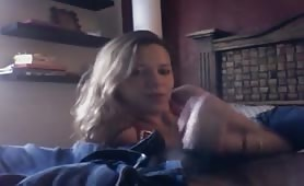 Blonde Chick Sticks a Dick in Her Mouth