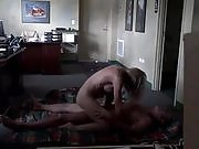 Horny gf and bf fuck in the office