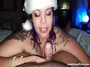 Santa Baby cums this Christmas as Santa Girl sucks his cock POV