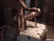 Ten-minute short video of horny couple fucking in the bedroom