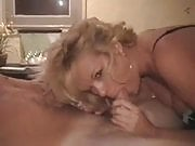 Curly blonde sexy hottie MILF sex tape