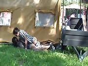 Couple Banging in Plain View at a Festival