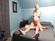 Pregnant Blonde Gets Creamed