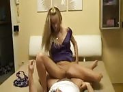 Blonde Teen Likes to Rule the Action