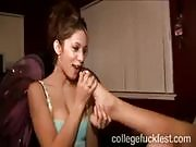 Lesbian Sex at a College Party