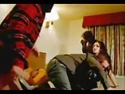 Dude Fucking Brunette Teen at a Swingers Party