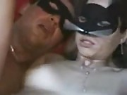 Masked Girl Riding a Dick
