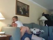 Amateur Teen Fucked on Couch