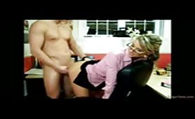 Man Pounding Pretty Secretary From Behind