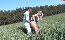Horny Couple Banging by the Woods