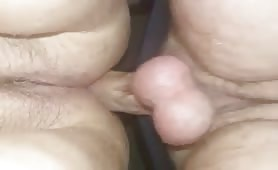 Trimmed Pussy Slammed Hard in Foreground