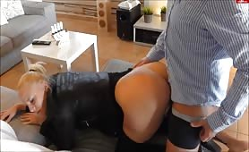 German Blonde Chick Gets on Her Knees for a Shot at Porn