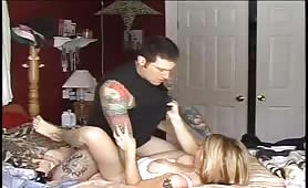 Tattooed MILF Has Her Pierced Pussy Creampied