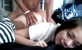 Asian Teen Pinned Down and Fucked