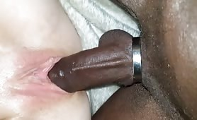 Cock Ring Keeps BBC Hard and Pulsating