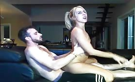 Blonde With Pigtails Pounded Hard Live