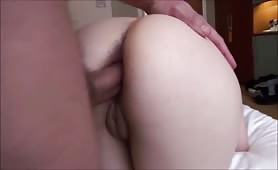 Brunette's Ass Hole Stretched and Drilled